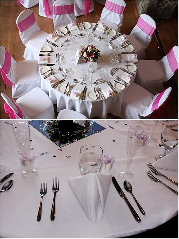 Individual Wedding Table Set Up The Wedding Secret Magazine