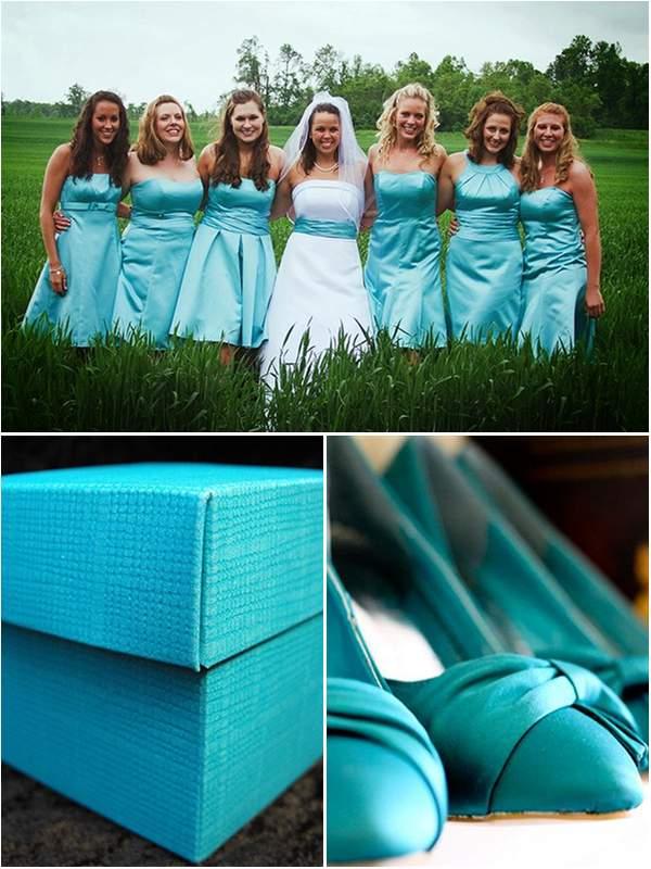 Turquoise Wedding Colour Scheme